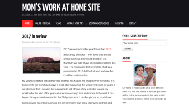 Moms work at home site