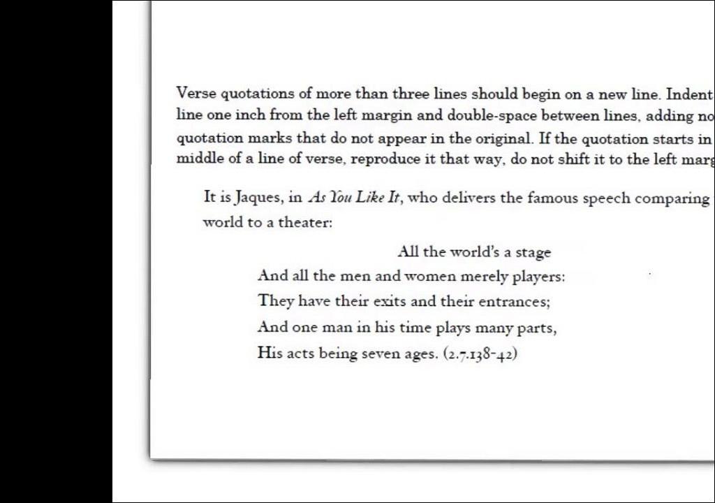 Essay quoting shakespeare
