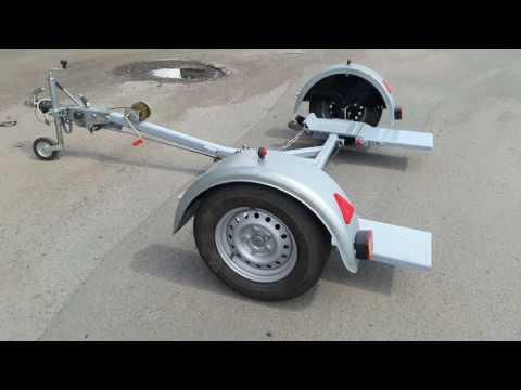 Прицеп эвакуатор с частичной погрузкой автомобиля