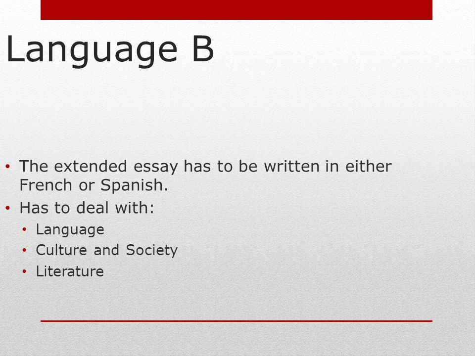 Extended essay - Diploma - International Baccalaureate