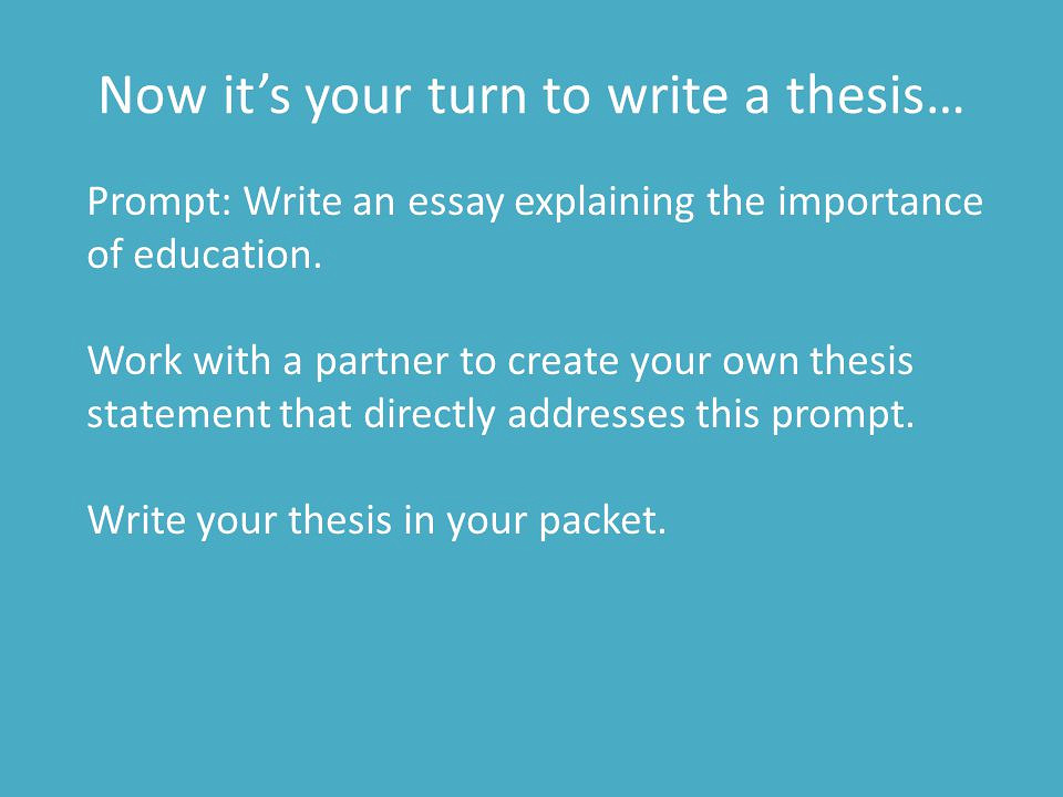 write my education essay thesis thesis statement on why education is important