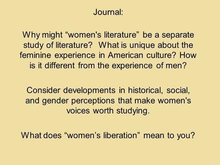 Write my research paper on feminism in literature