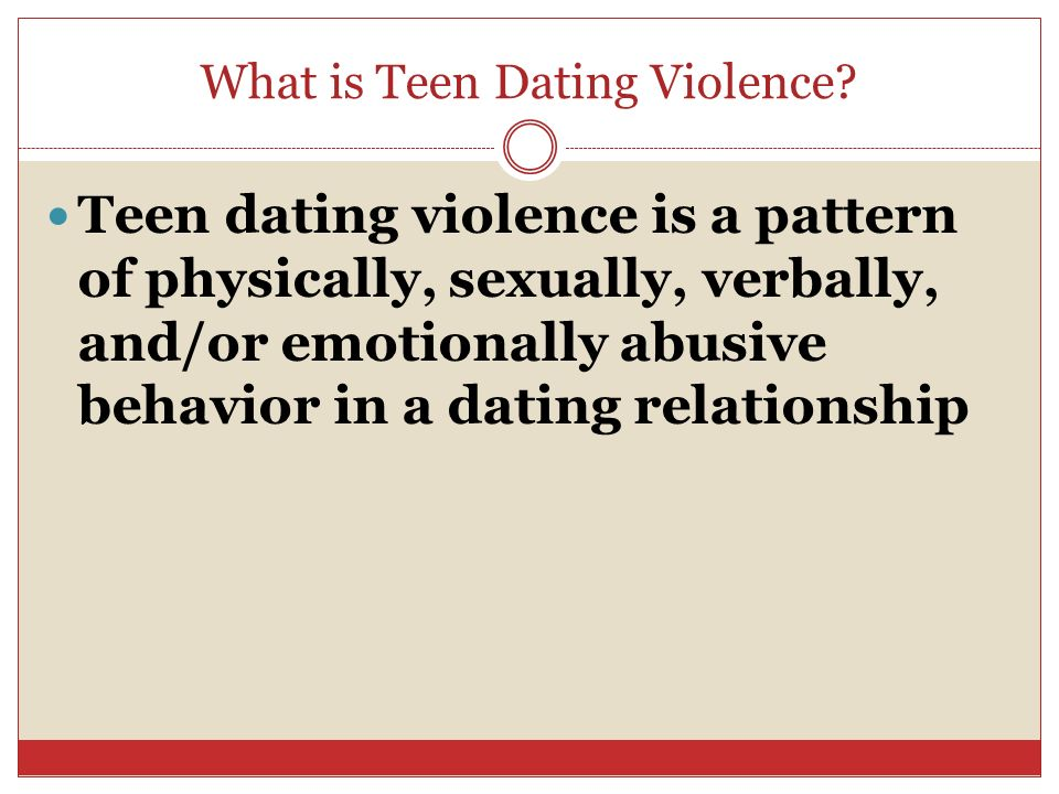 Teenage dating violence quiz