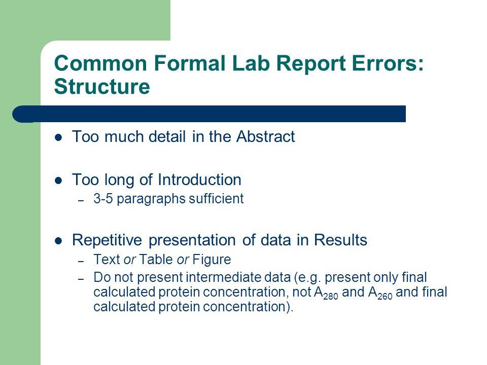 Write my lab report topics