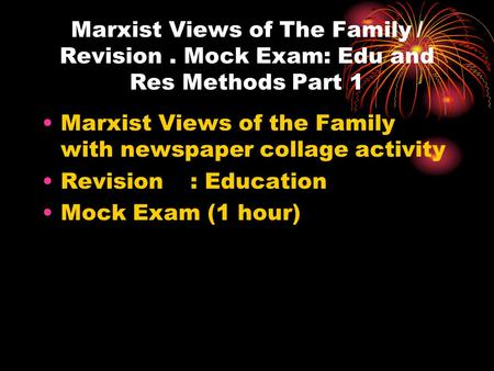 Marxist view on the family essay