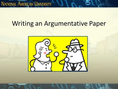 Argumentation paper