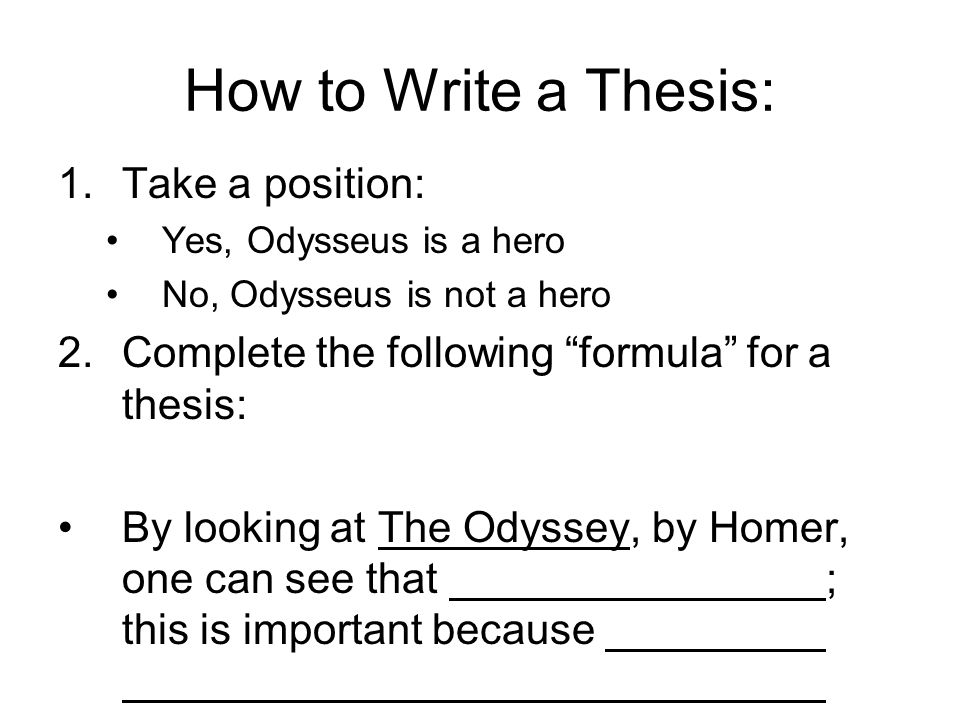 Write my how write a thesis