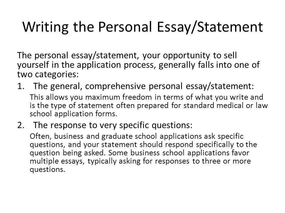 Write my what is a personal statement for a college application