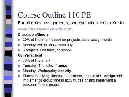 Pe as coursework
