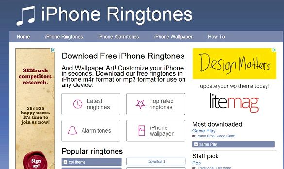 Free ringtones, wallpapers and backgrounds for your