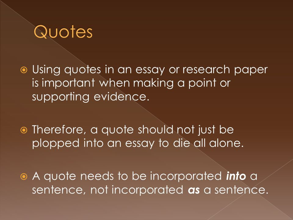 How to insert quotes into an essay mla