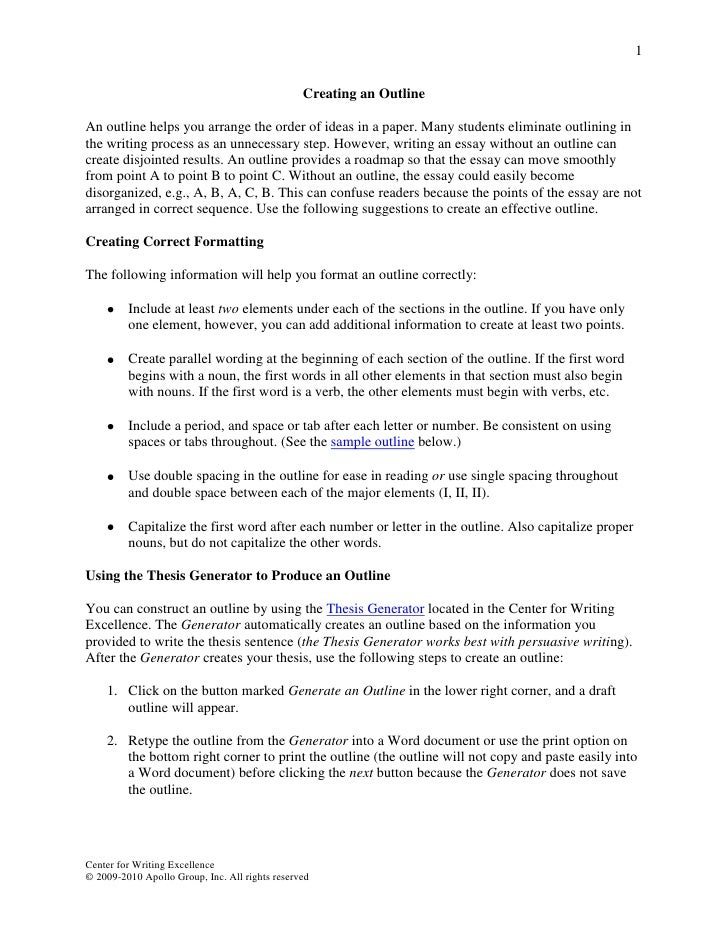 Writing an Effective Thesis Statement - UCI Center for