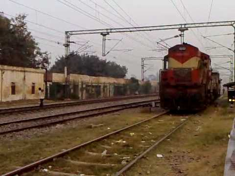 WDM-2 is Shunting the Guard Bogie to the Goods Train