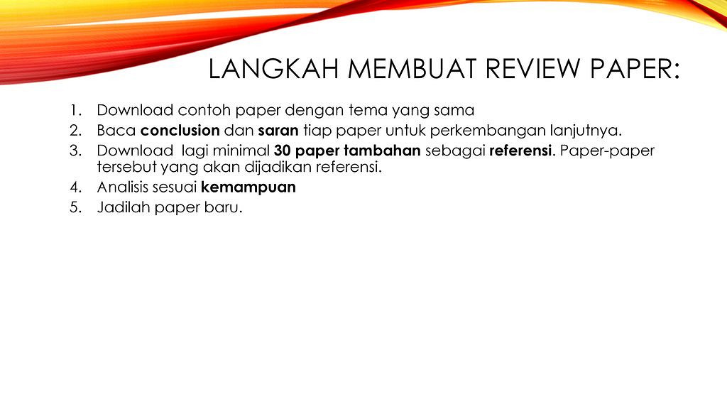 Contoh review paper