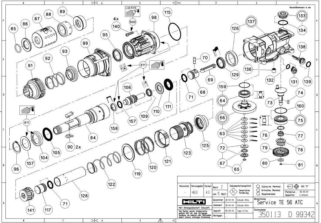 hilti te5 repair manual rh edmonton troutpredator info Hilti Tools Hilti Hammer Drill