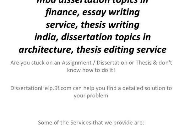 Write my finance thesis topic