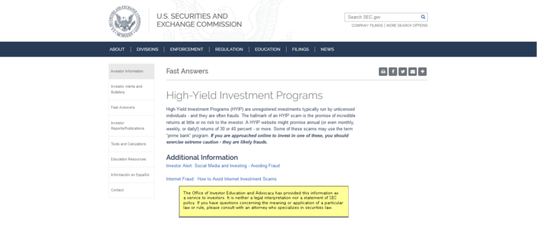 Non hyip investment programs xps
