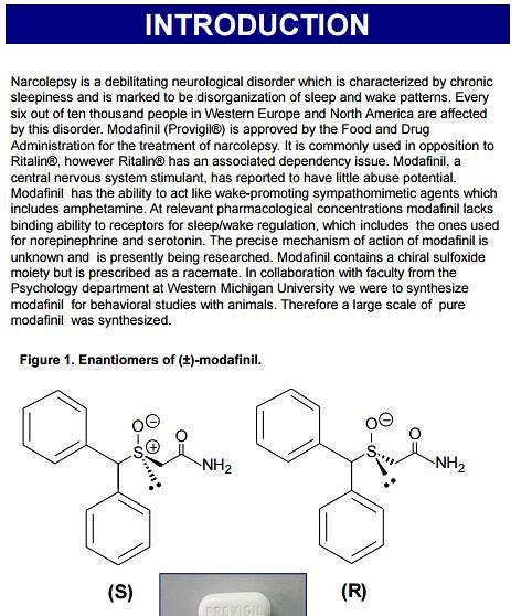 Modafinil receptors