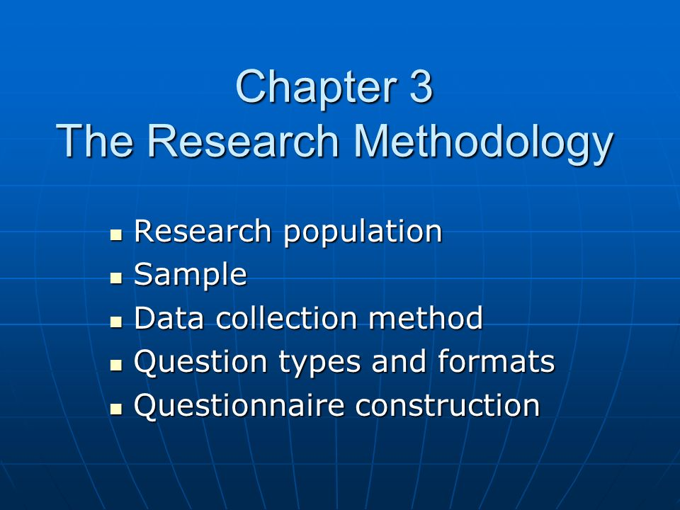 What is a dissertation methodology