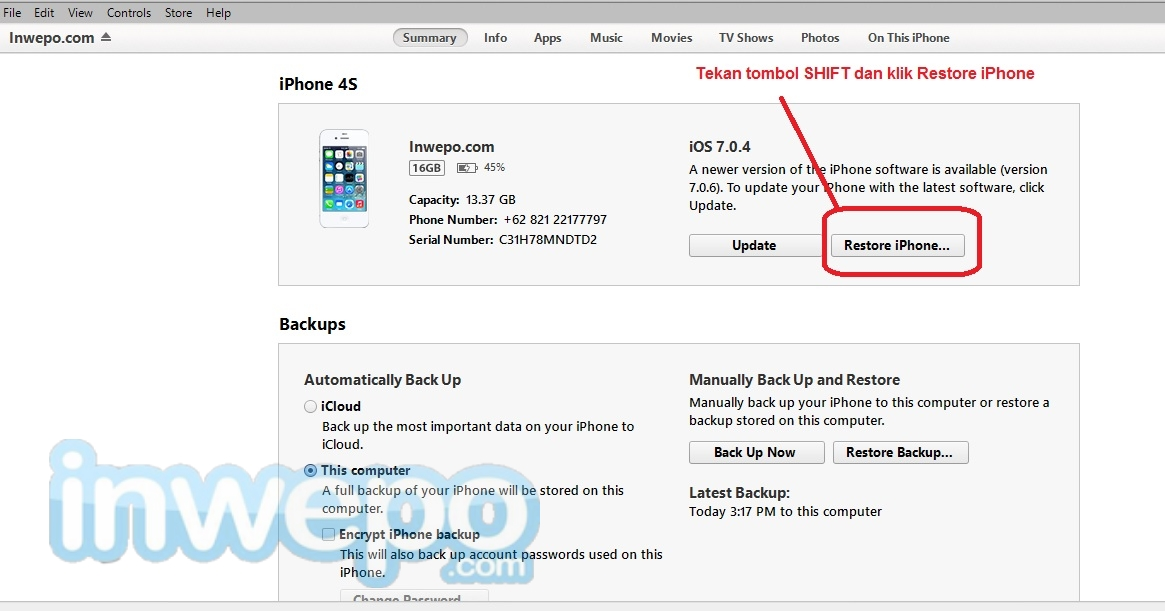 Manually Install Firmware Update on iPhone, iPad and