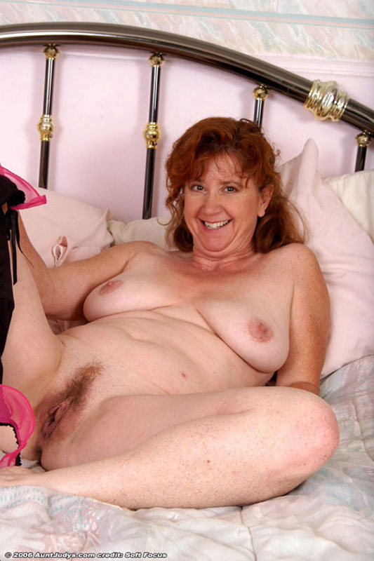 With dick red haired old lady pussy