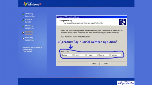 Windows Xp Service Pack 3 Full version With Product key