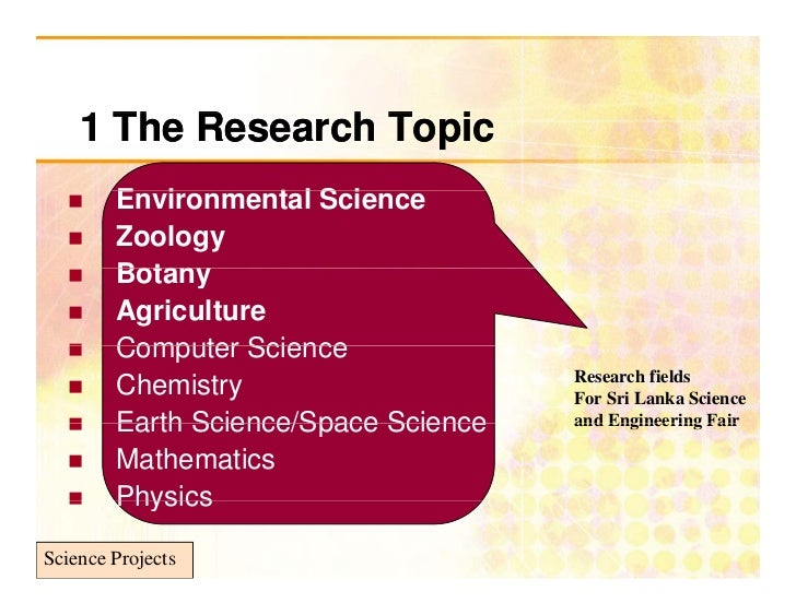 Write my environmental science research paper topics