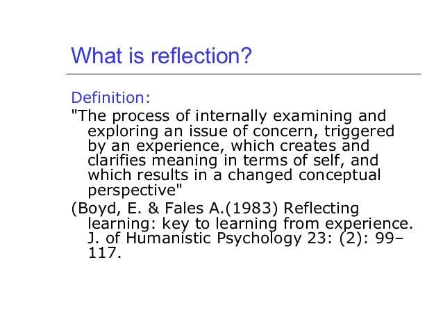 Write my reflective essay definition