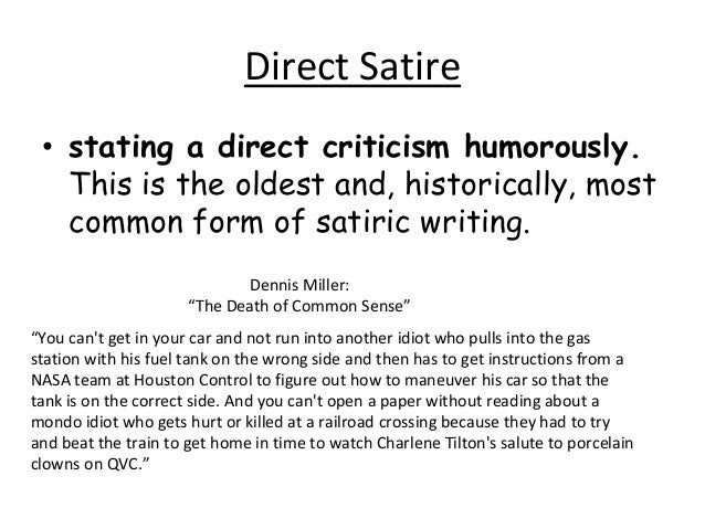 writing satire essays example - Examples Of Satire Essays