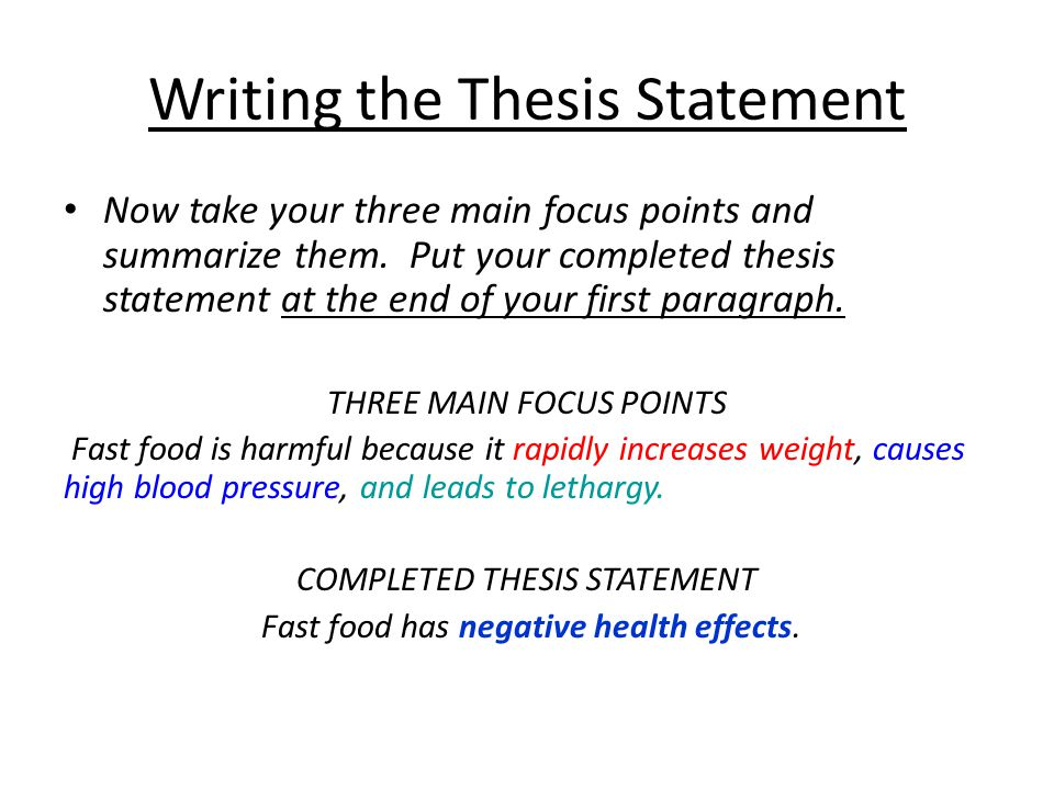 write my argument essay thesis