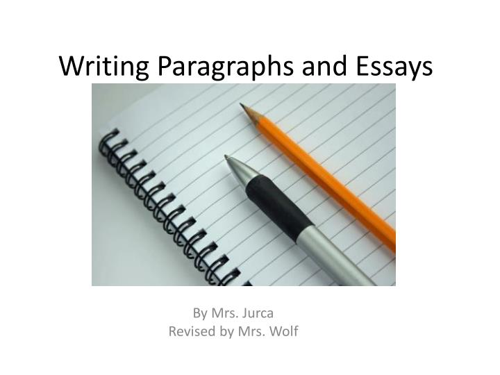 The Secrets to Good Paragraph Writing - Time4Writing