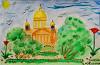 Рисунок с известными людьми. Любимый Петербург
