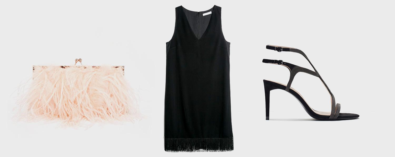 Сумка Asos, 3636 р., платье Mango, 5499 р., босоножки Zara, 3999 р.