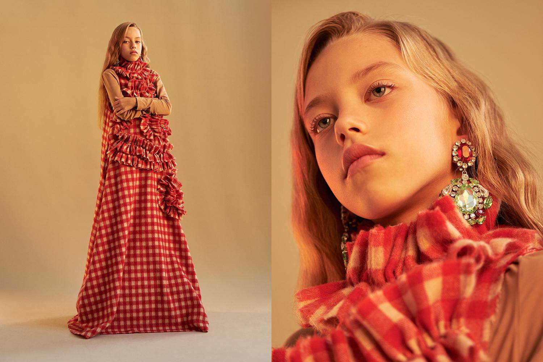 Платье A.W.A.K.E., топ Wood Wood, клипсы Kormelitz