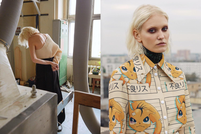 Слева: топ и юбка A.W.A.K.E.; справа: рубашка A.W.A.K.E., водолазка Monki