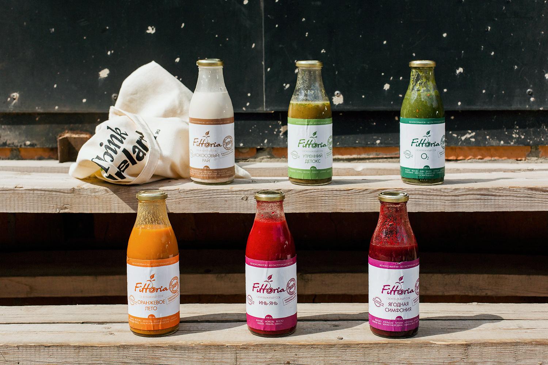 Еще одна программа, составленная из соков, под названием Fittoria выгодно отличается тарой — большие стеклянные бутылки