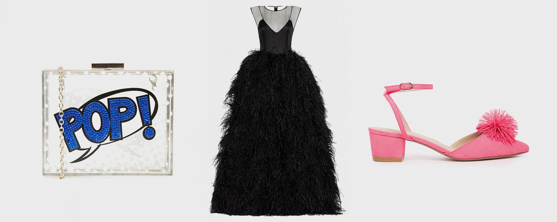 Сумочка Skinnydip, 3636 р., платье Alexander Arutyunov, цена по запросу, босоножки Asos, 3181 р.