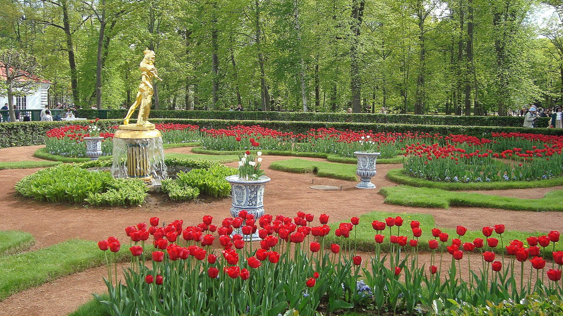 Фото петергофский парк