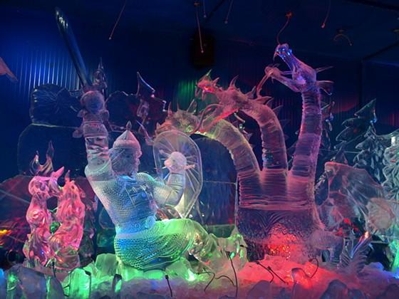 Фото галерея русской ледовой скульптуры
