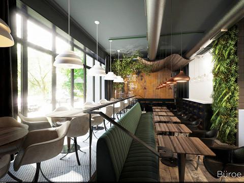 Визуализация интерьера ресторана
