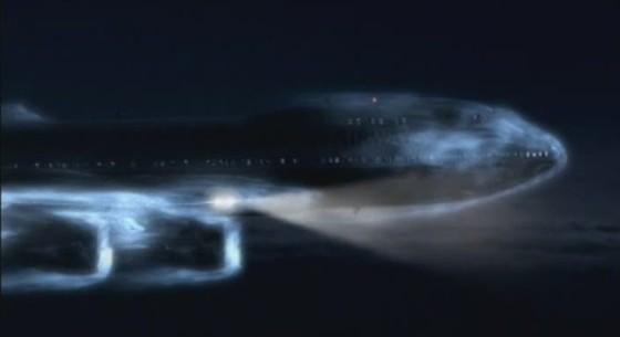 Самолет над вулканом. Сквозь облако пепла (Plane Above the Volcano. Through the Cloud of Ash)