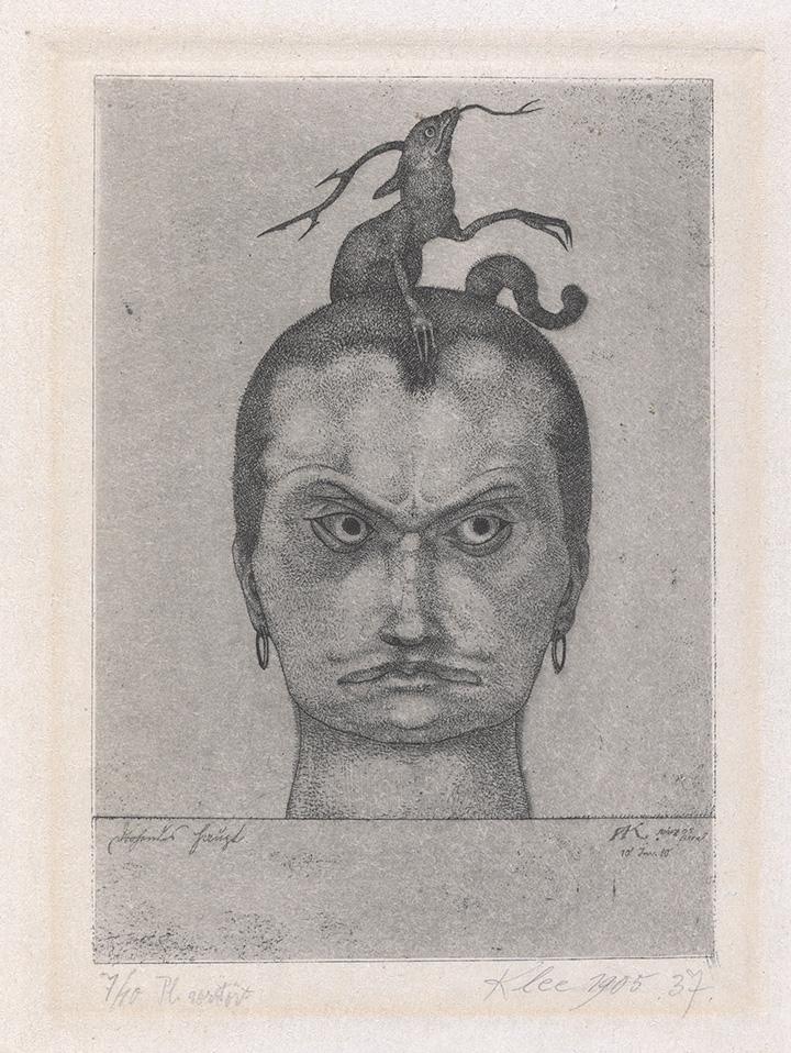 Пауль Клее. Грозная голова, 1905