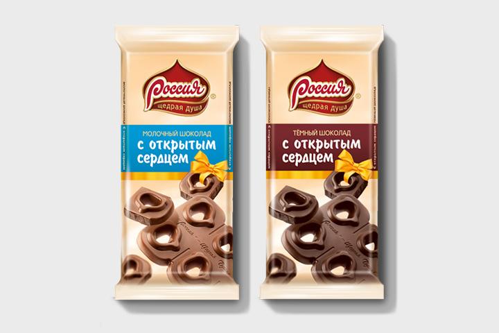 Шоколад «Россия с открытым сердцем», 154 р.