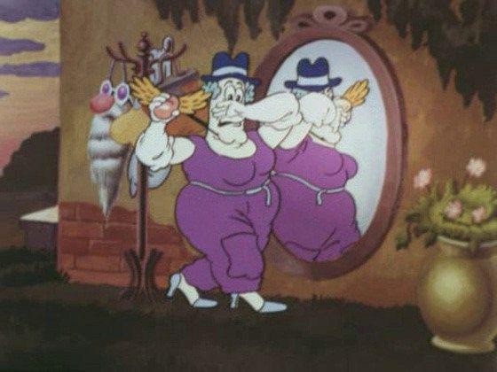 Фунтик и старушка с усами