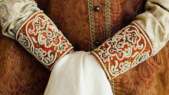 Русский женский костюм второй половины XVII века