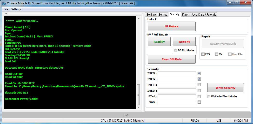 Q Mobile E6 (4MB) SF_W25Q32BV MTK CPU Flash File