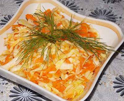 Рецепт быстрой засолка капусты