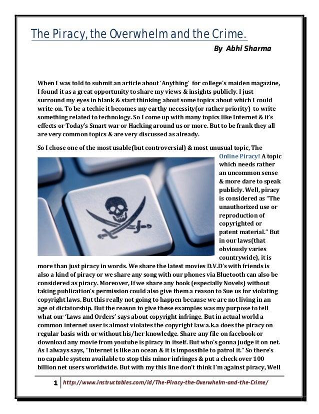 Internet Piracy Essay