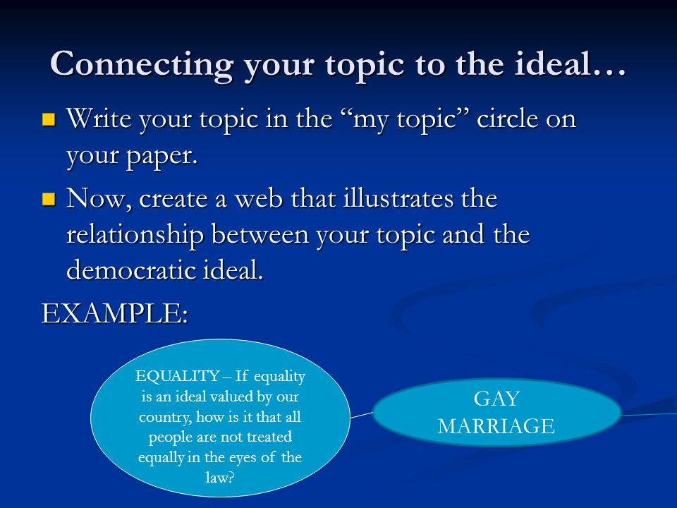 Same Sex Marriage Essay - Essay Topics