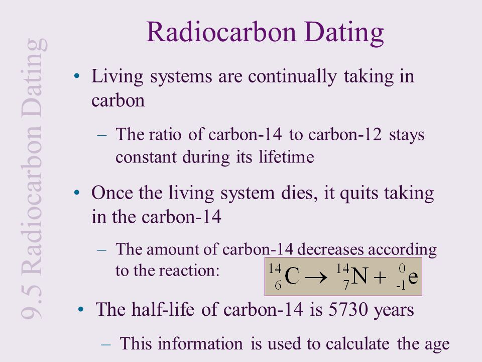 Carbon dating math example